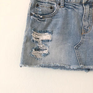 American Eagle Outfitters Skirts - American Eagle Distressed Denim Mini Skirt